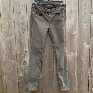 Vince skinny jeans, olive green